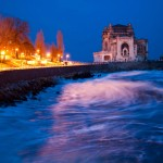 Reportaj fotografic – Marea Neagră la Constanţa de la răsărit la apus (10 martie 2014)