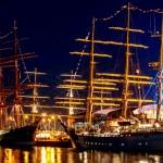 Sărbătoare în portul Constanţa la aniversarea bricului Mircea