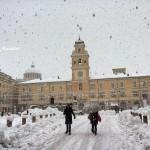 Prima zăpadă într-un oraș din Nordul Italiei