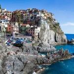 La plajă în Liguria: Riomaggiore, Manarola, Lerici